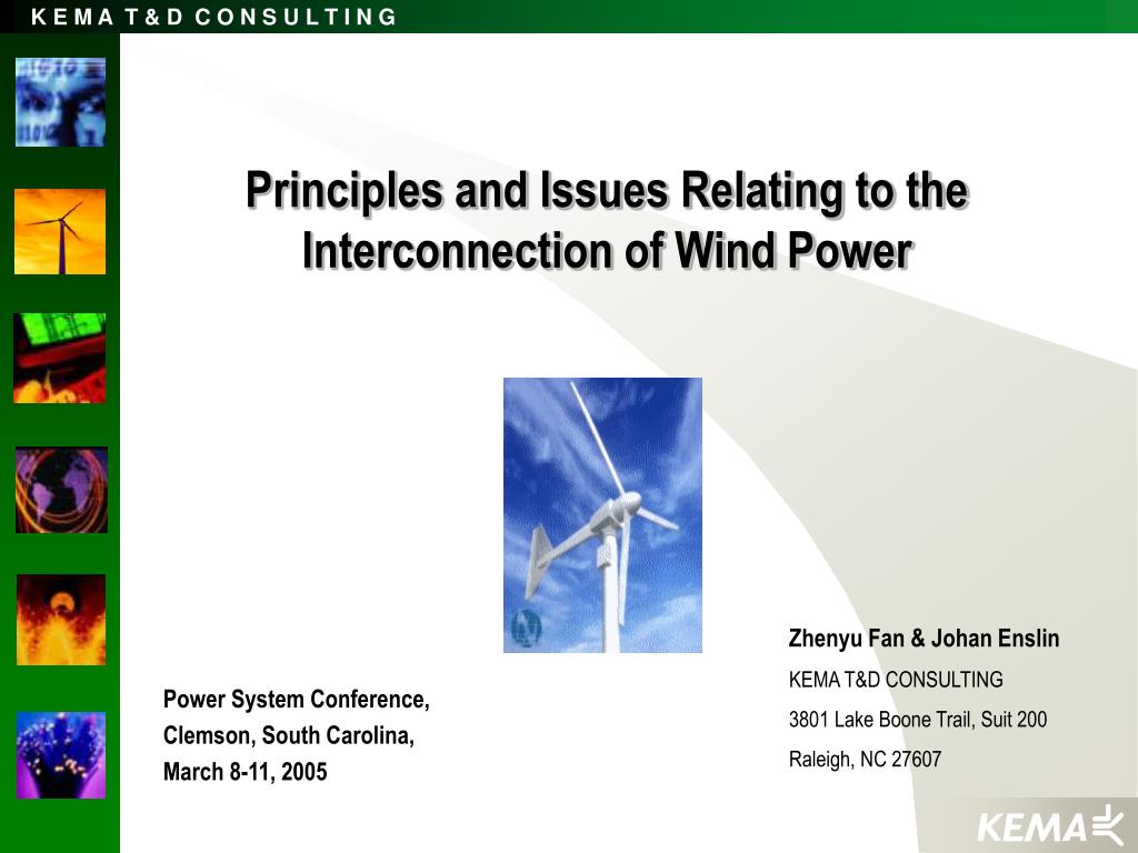 Principles and Issues Relating to the Interconnection of Wind Power