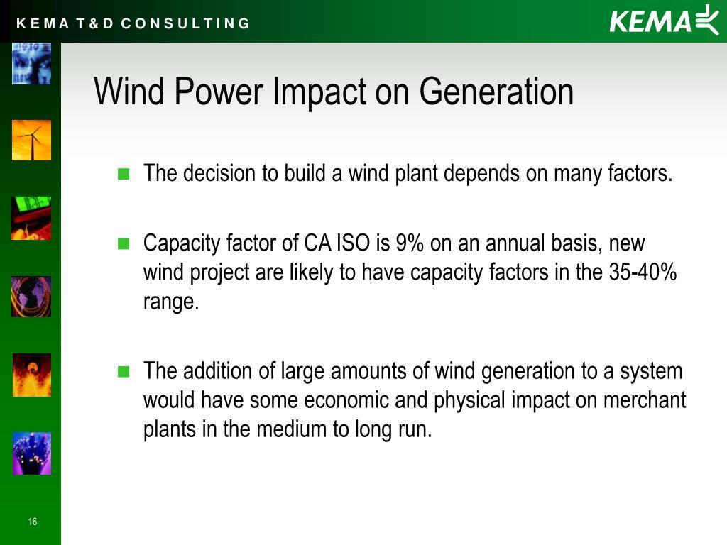 Wind Power Impact on Generation