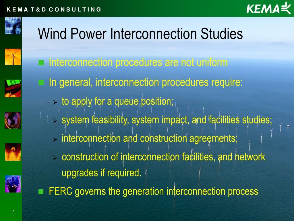 Wind Power Interconnection Studies