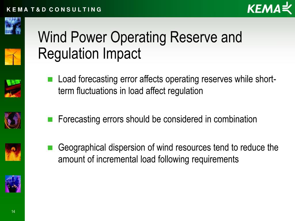 Wind Power Operating Reserve and Regulation Impact
