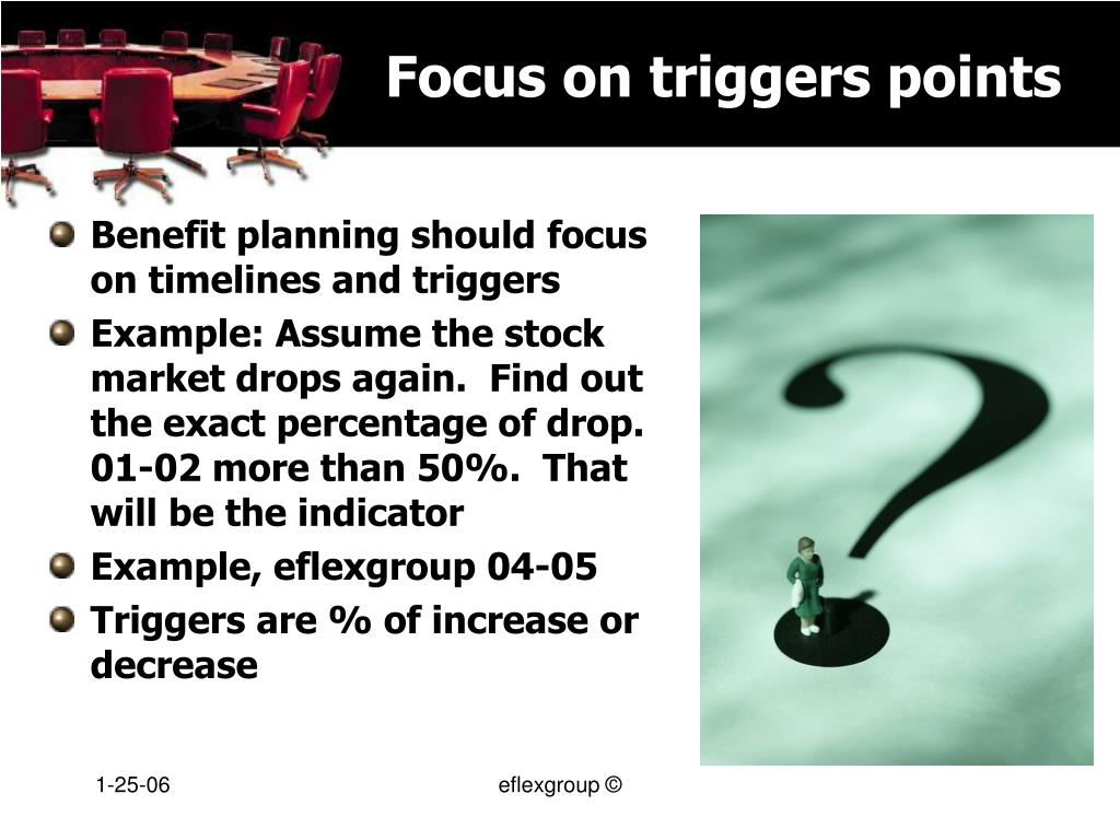 Focus on triggers points