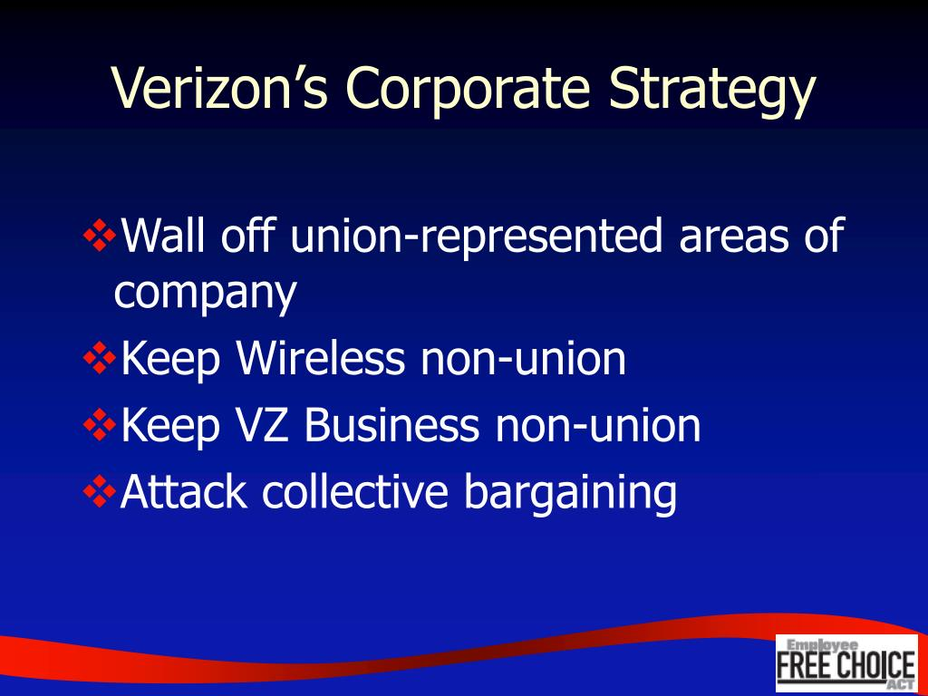 Verizon's Corporate Strategy