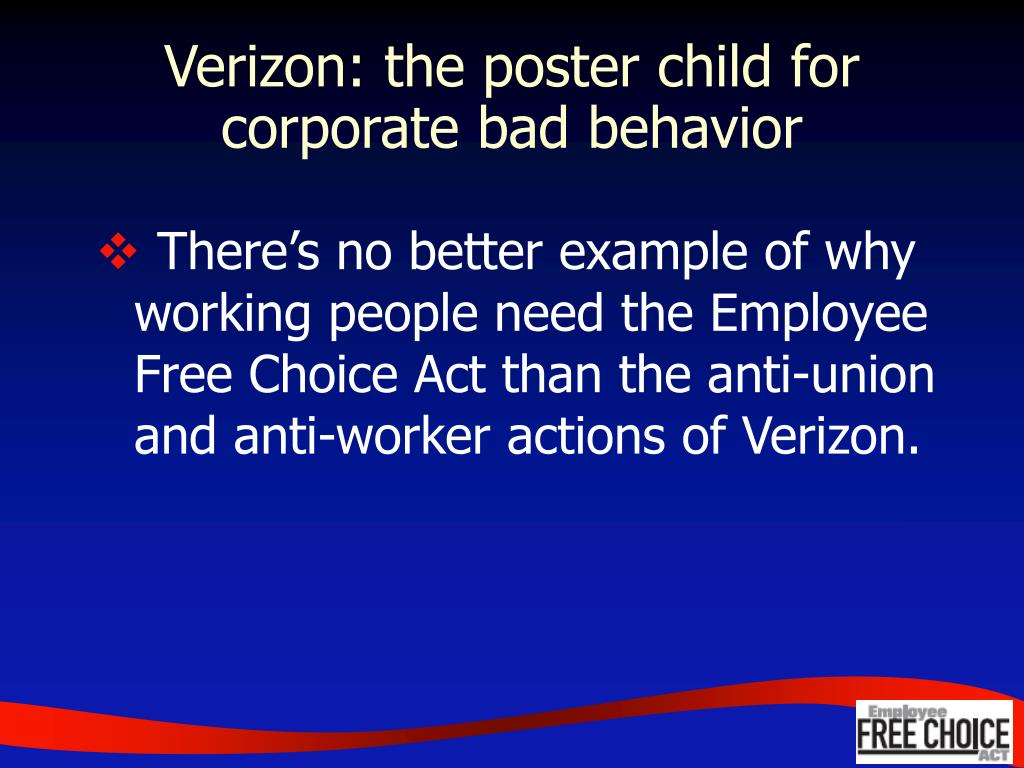 Verizon: the poster child for corporate bad behavior