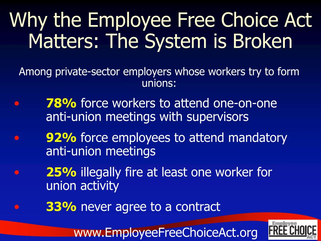 Why the Employee Free Choice Act Matters: The System is Broken
