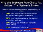 why the employee free choice act matters the system is broken