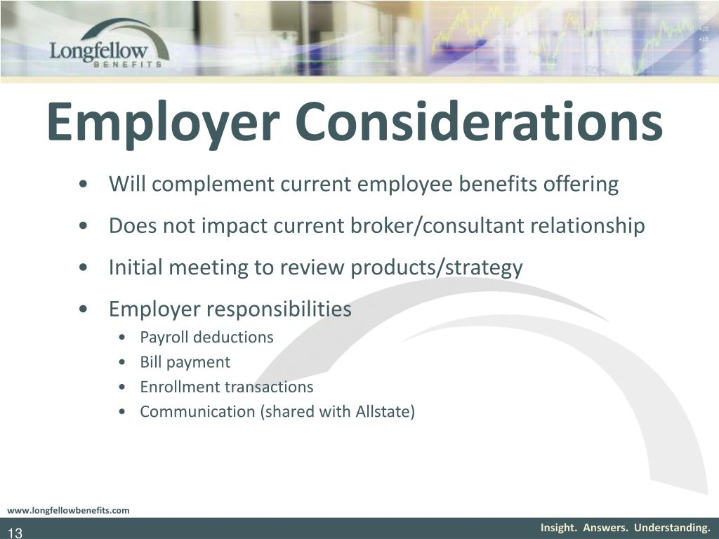 Employer Considerations