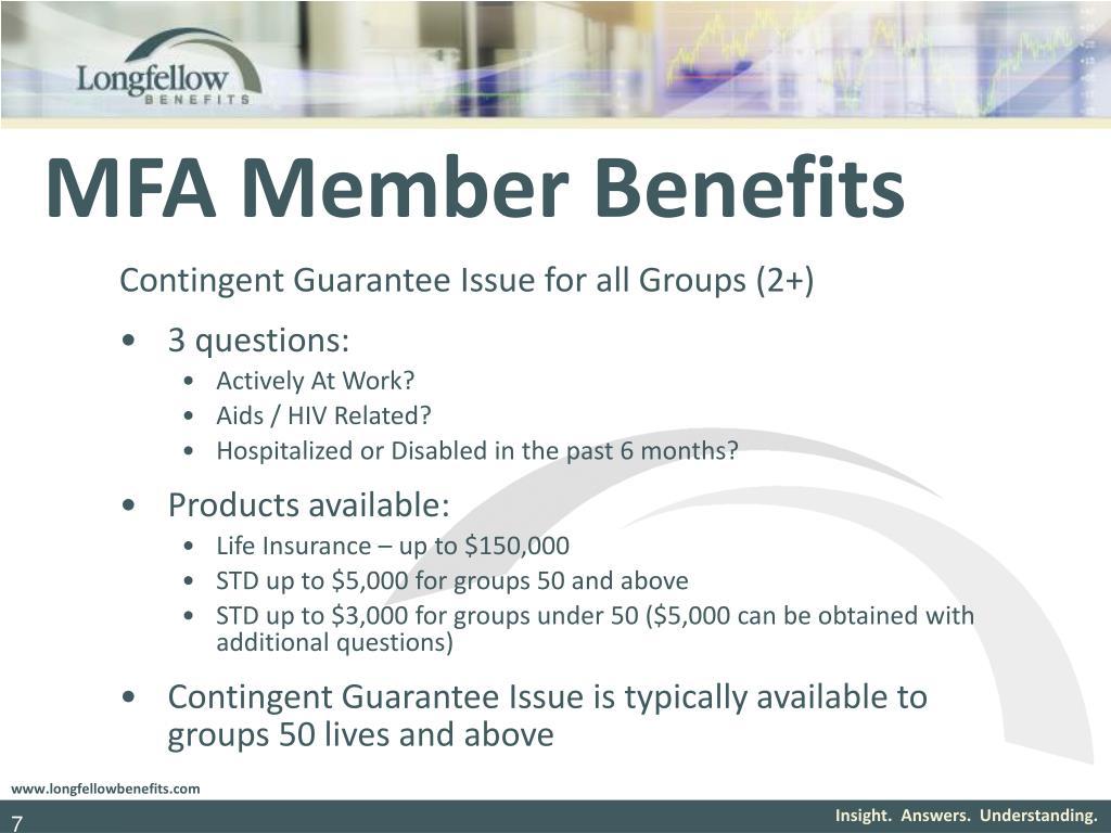 MFA Member Benefits