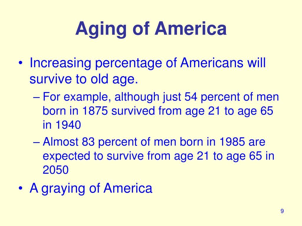 Aging of America