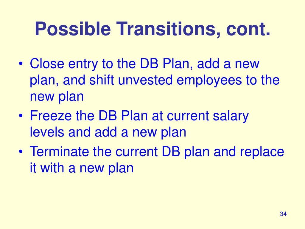 Possible Transitions, cont.