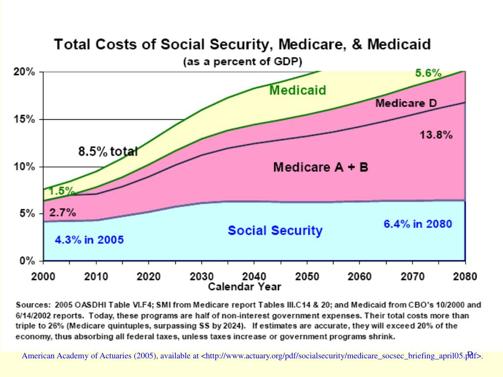 American Academy of Actuaries (2005), available at <http://www.actuary.org/pdf/socialsecurity/medicare_socsec_briefing_april05.pdf>.