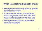 what is a defined benefit plan