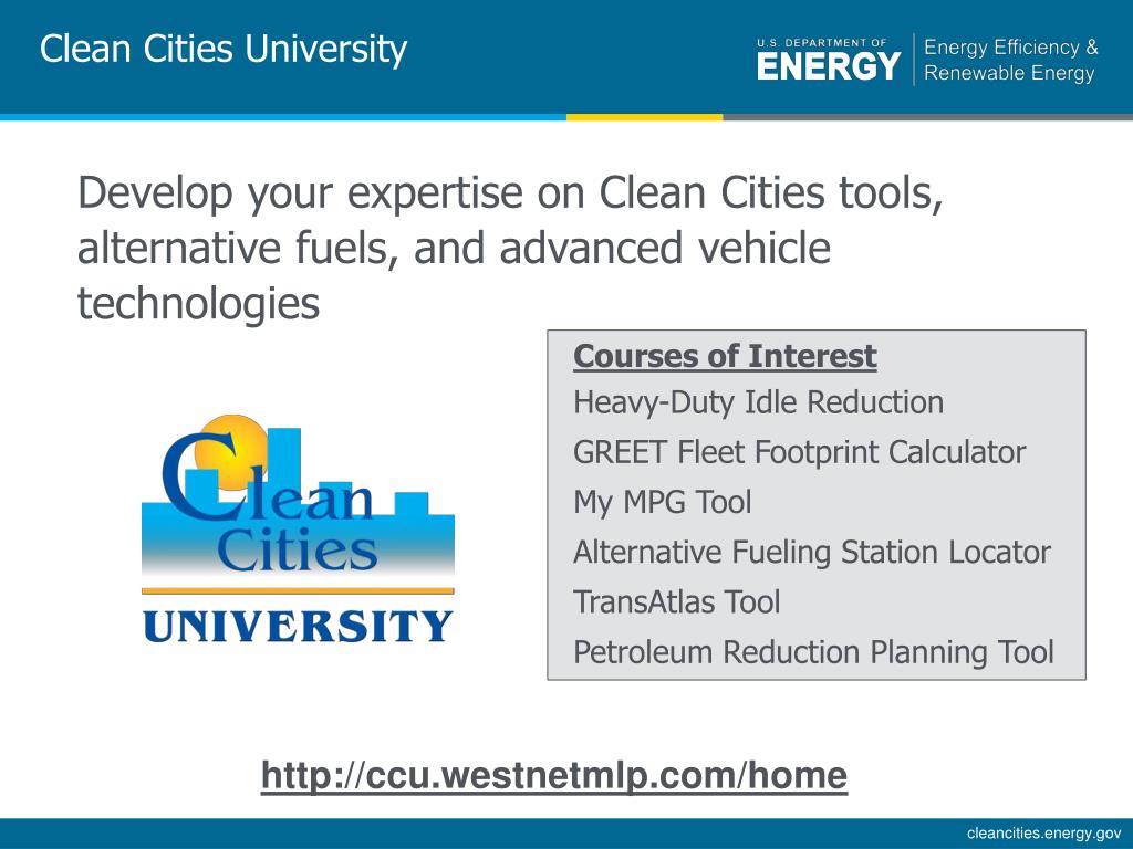 Clean Cities University