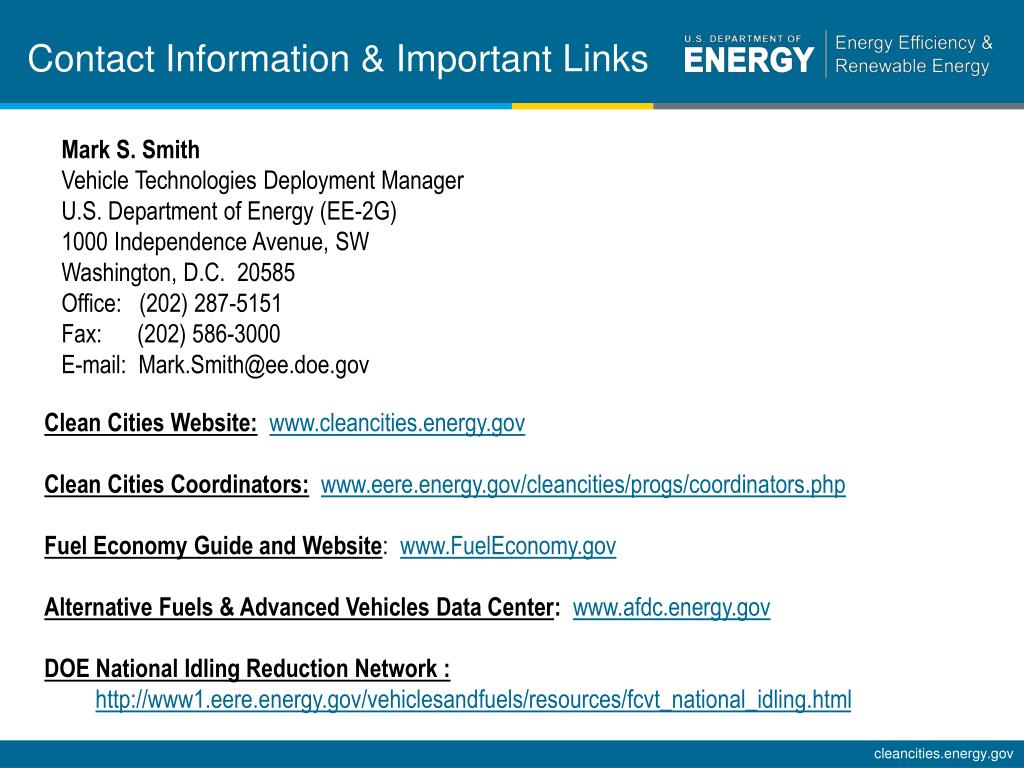 Contact Information & Important Links