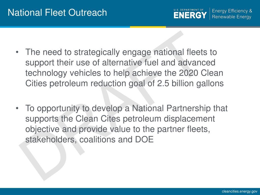 National Fleet Outreach