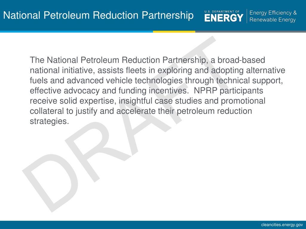 National Petroleum Reduction Partnership