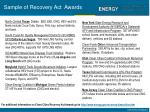 sample of recovery act awards
