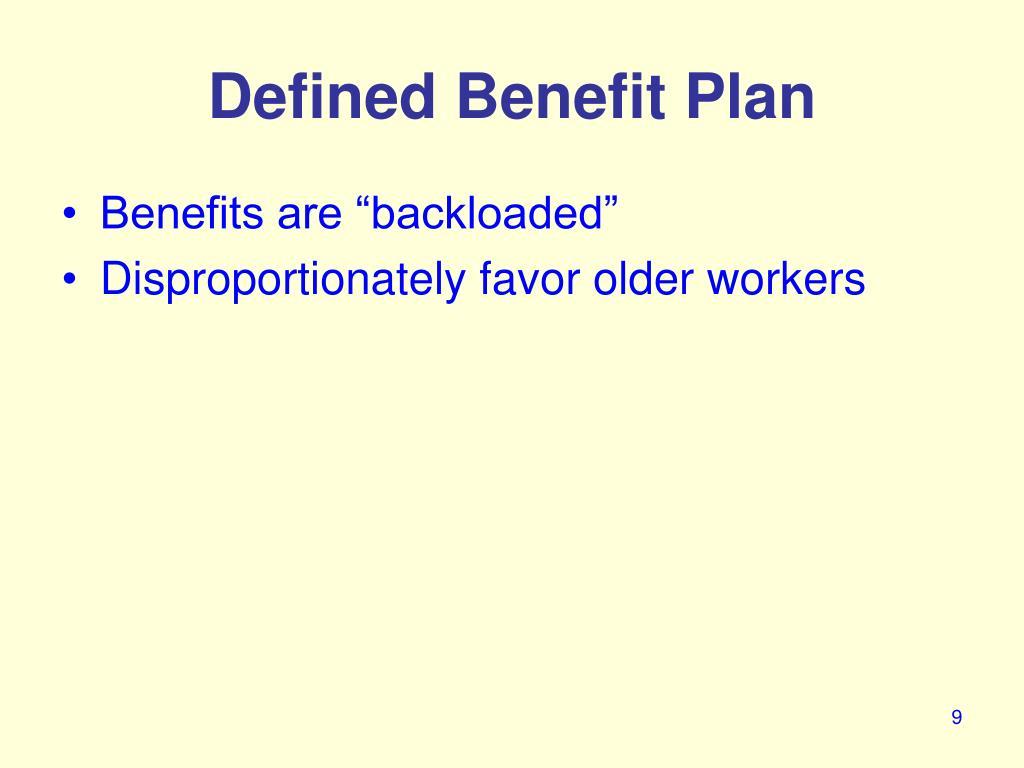 Defined Benefit Plan