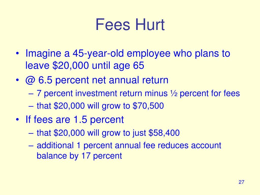 Fees Hurt