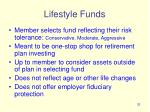 lifestyle funds