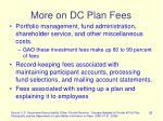 more on dc plan fees