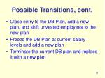 possible transitions cont