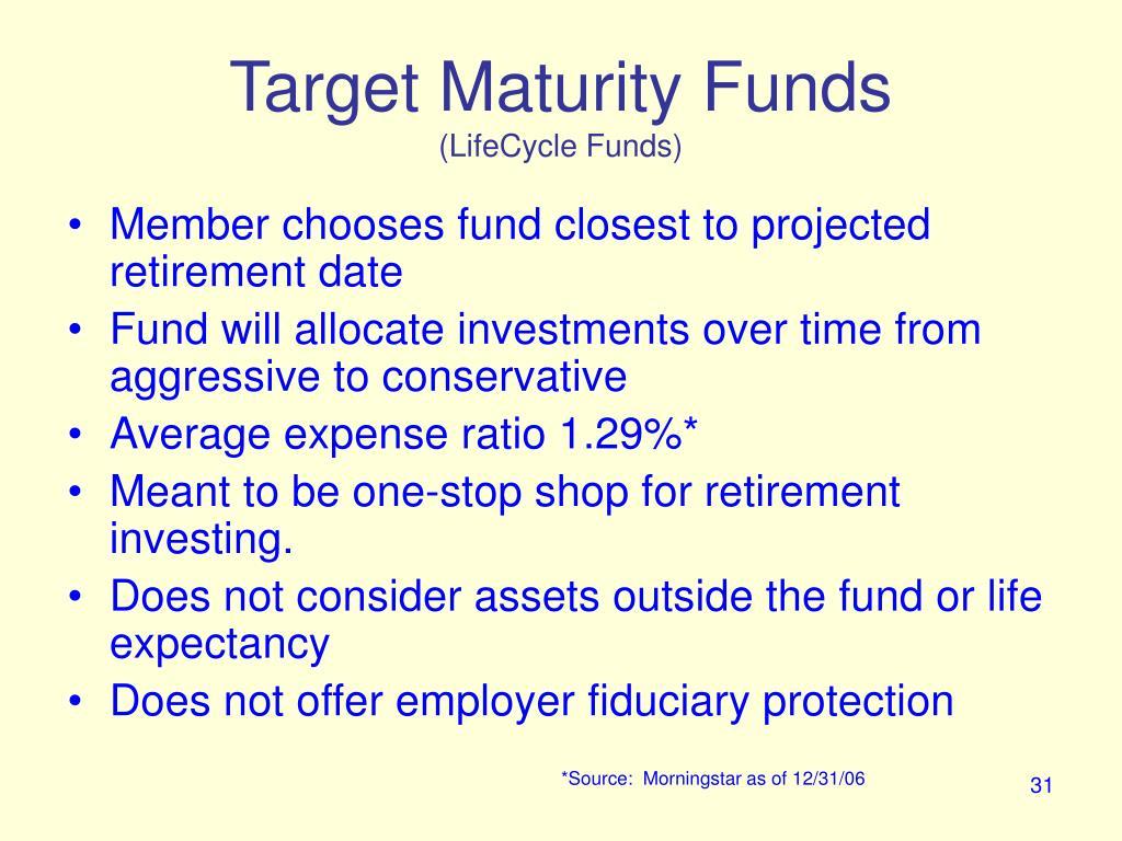 Target Maturity Funds