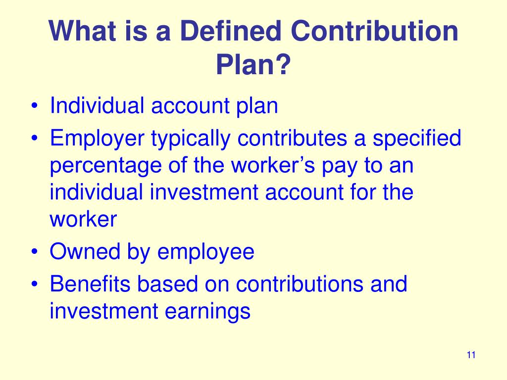 What is a Defined Contribution Plan?