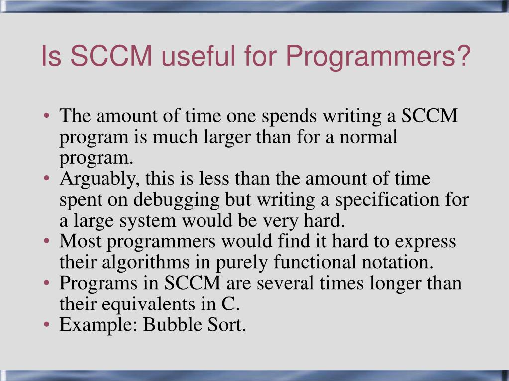 Is SCCM useful for Programmers?