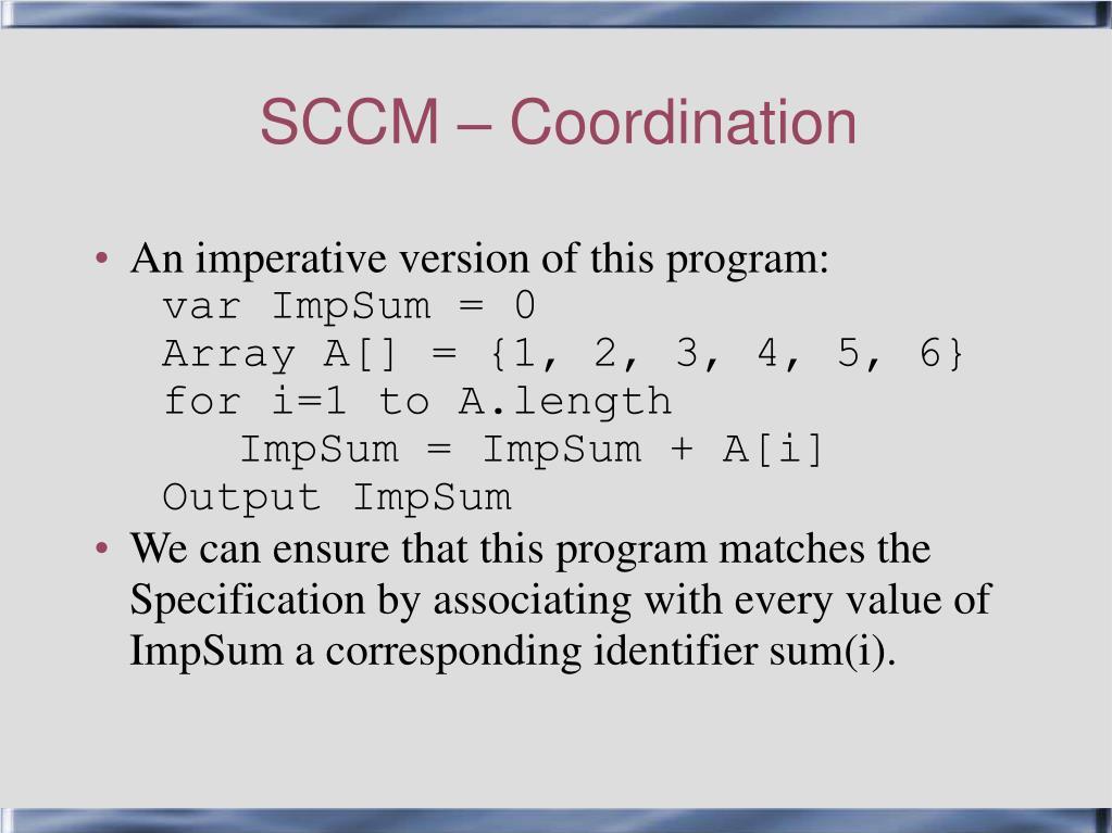 SCCM – Coordination