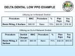 delta dental low ppo example