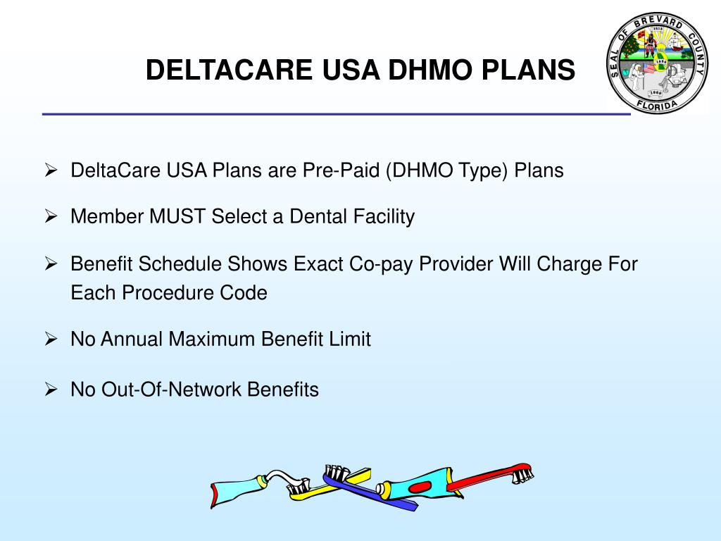 DELTACARE USA DHMO PLANS