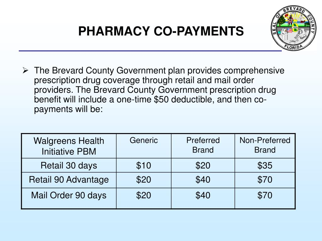 PHARMACY CO-PAYMENTS