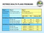 retiree health plans premiums12