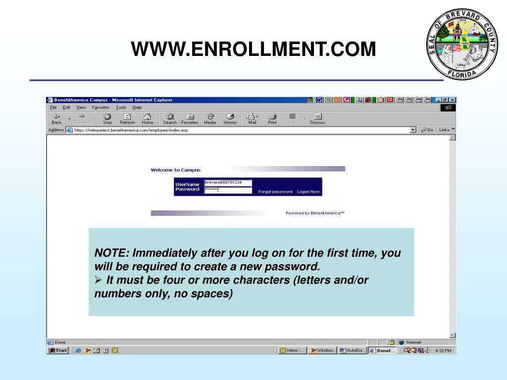 WWW.ENROLLMENT.COM