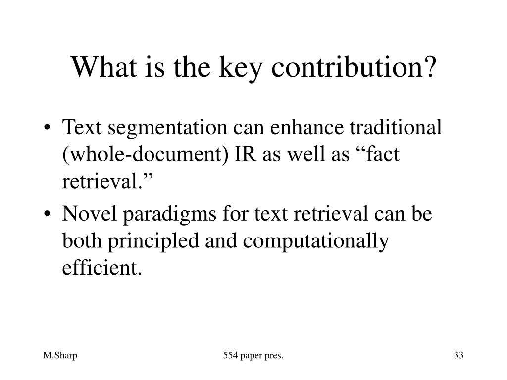 What is the key contribution?