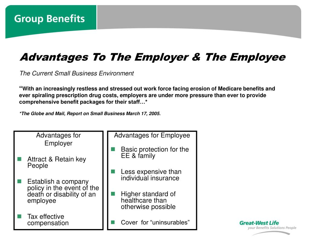 Advantages To The Employer & The Employee
