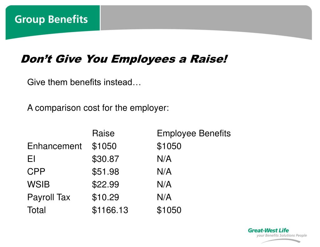 Don't Give You Employees a Raise!