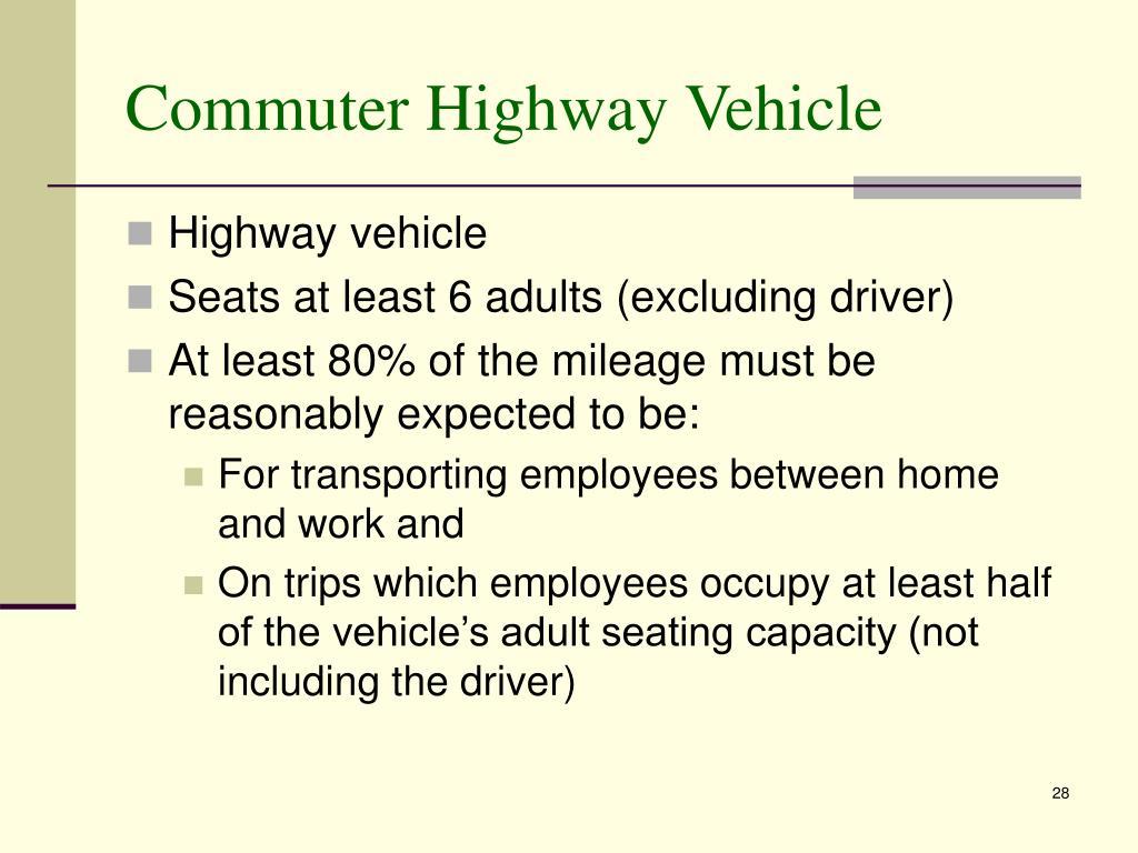 Commuter Highway Vehicle