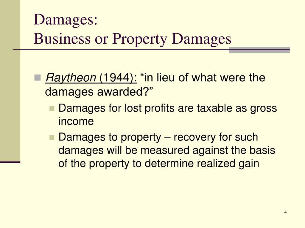 Damages: