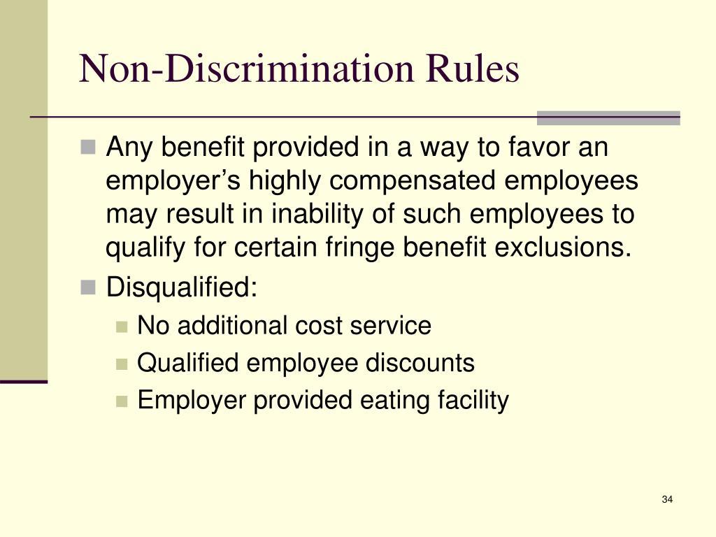 Non-Discrimination Rules