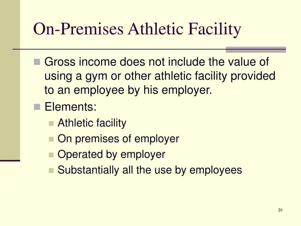 On-Premises Athletic Facility