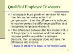 qualified employee discounts