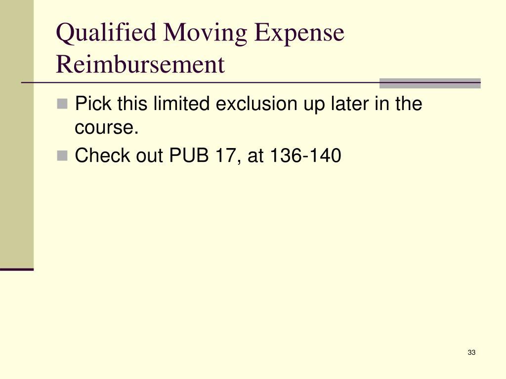 Qualified Moving Expense Reimbursement