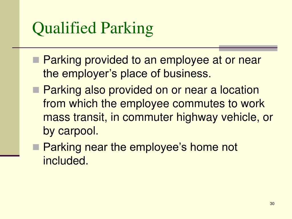 Qualified Parking