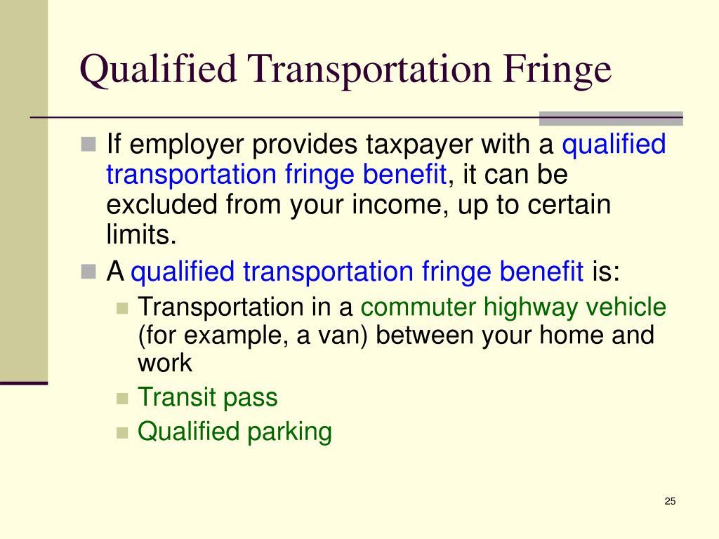 Qualified Transportation Fringe