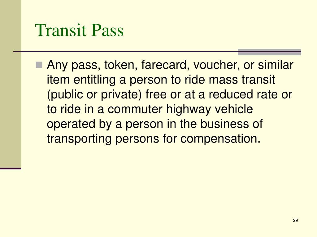 Transit Pass