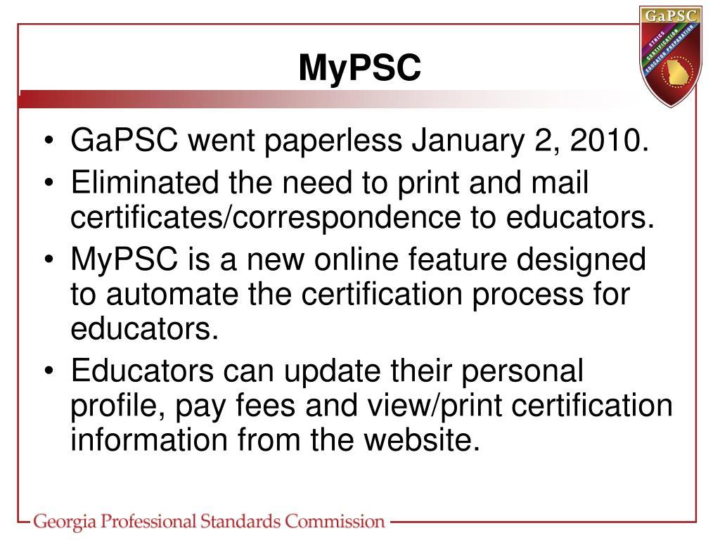 MyPSC