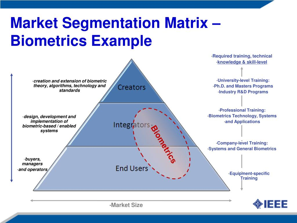 Market Segmentation Matrix – Biometrics Example