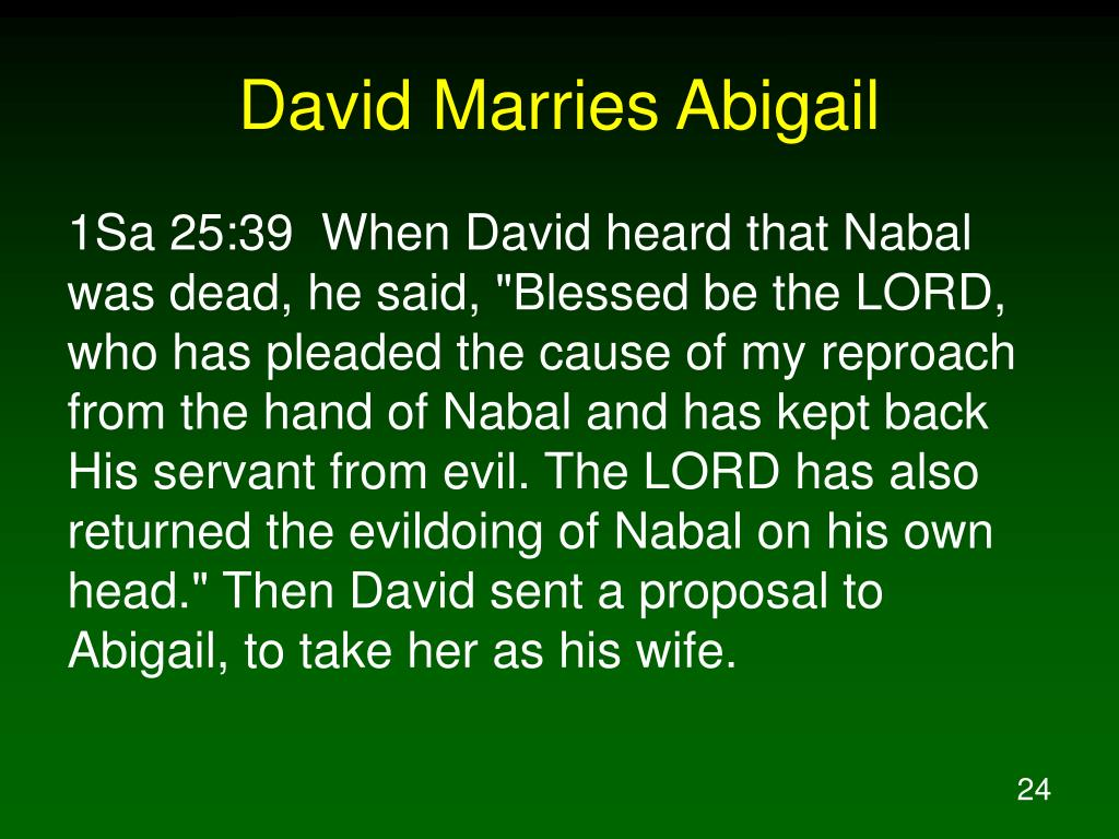 David Marries Abigail