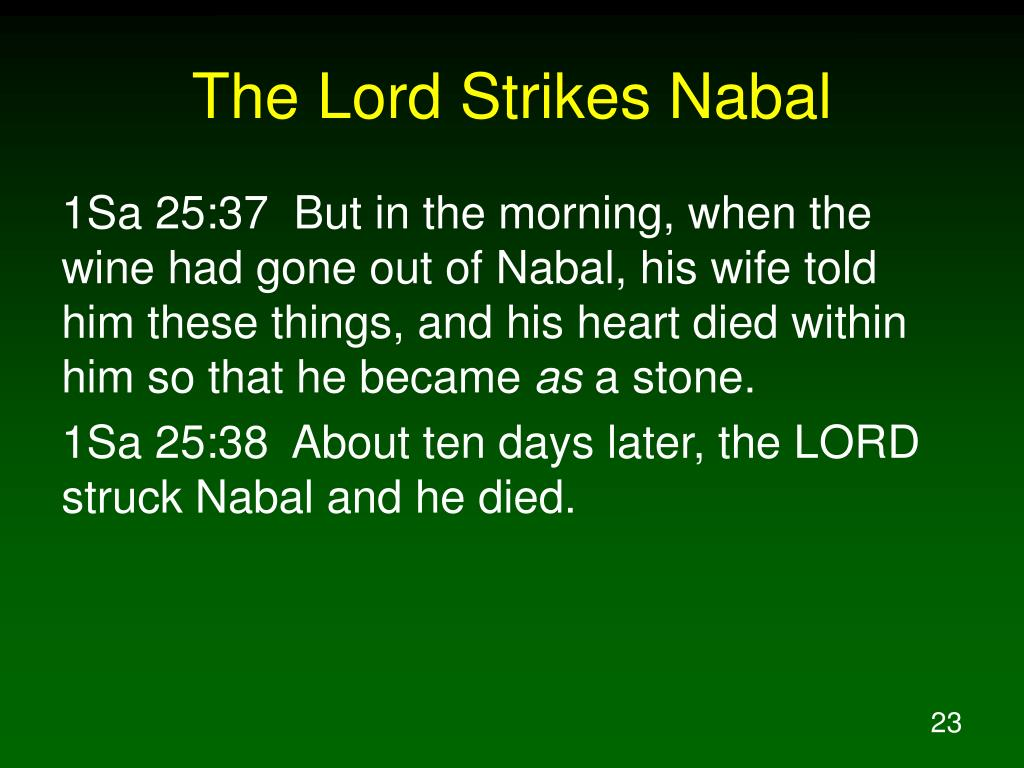 The Lord Strikes Nabal